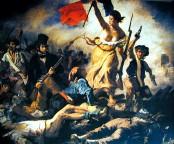 La Libertad Guiando al Pueblo. Eugene Delacroix (1830)
