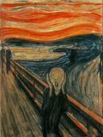 E. Munch: El grito, 1893, cera, pastel y témpera sobre papel cartón, 83´5 x 66 cm, Museo Munch, Oslo.